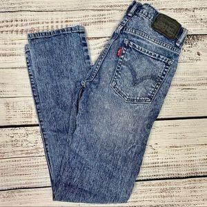 LEVI'S 510 Super Skinny Acid Wash Jeans Girl's 12